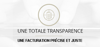 une totale transparence